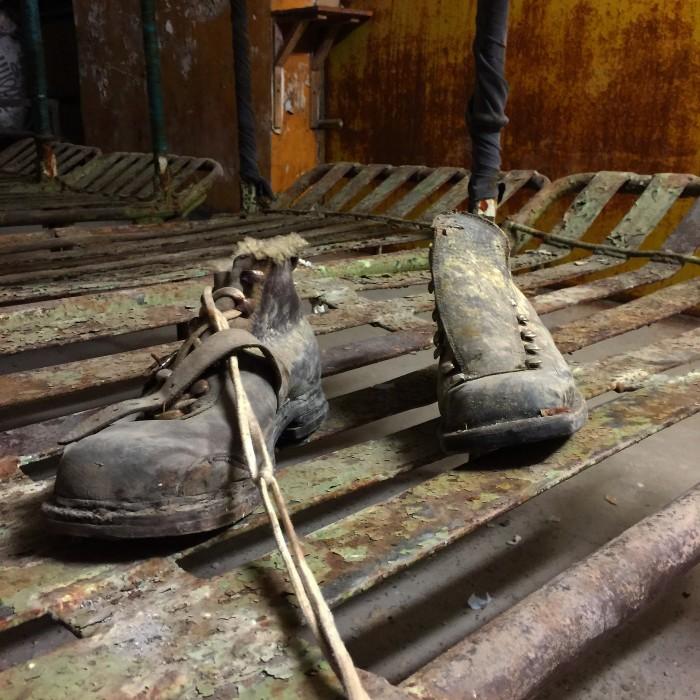 patarei prison boots 700x700 - A visit to Patarei Prison in Tallinn, Estonia
