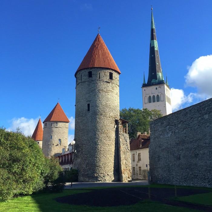 tallinn towers 700x700 - Exploring the views of the Old Town Tallinn, Estonia