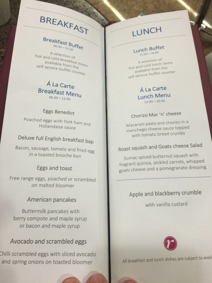 american flagship lounge london menu 700x933 - American Airlines Flagship Lounge London Heathrow LHR review