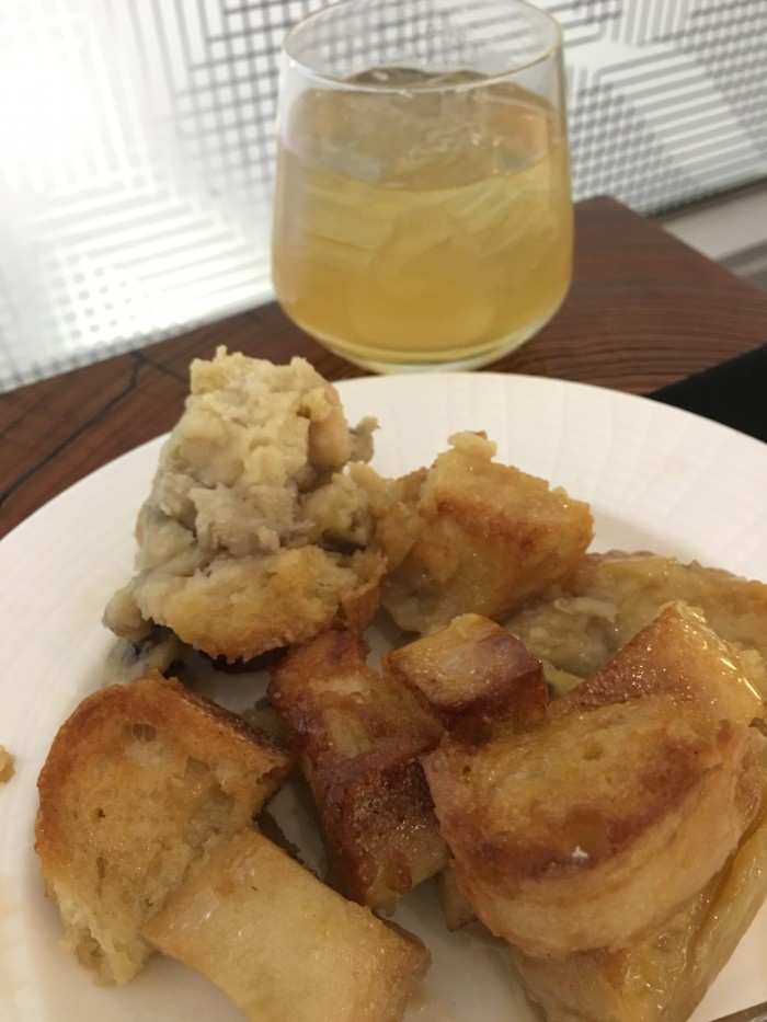 amex centurion lounge dfw bread pudding 700x933 - American Express Centurion Lounge Dallas-Fort Worth DFW review