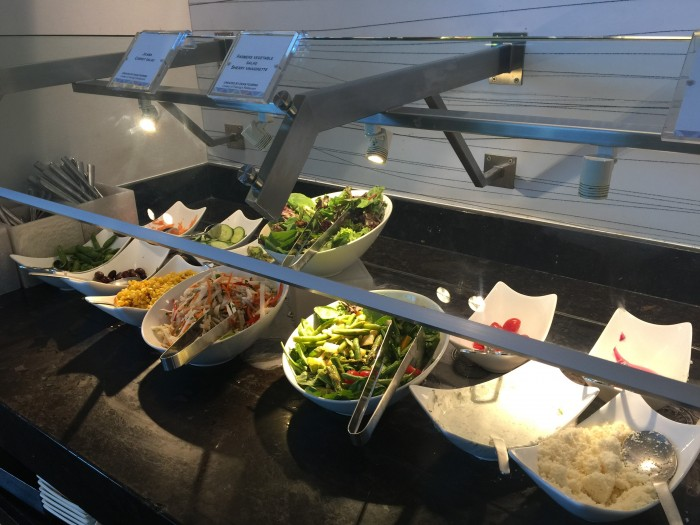 amex centurion lounge dfw salads 700x525 - American Express Centurion Lounge Dallas-Fort Worth DFW review