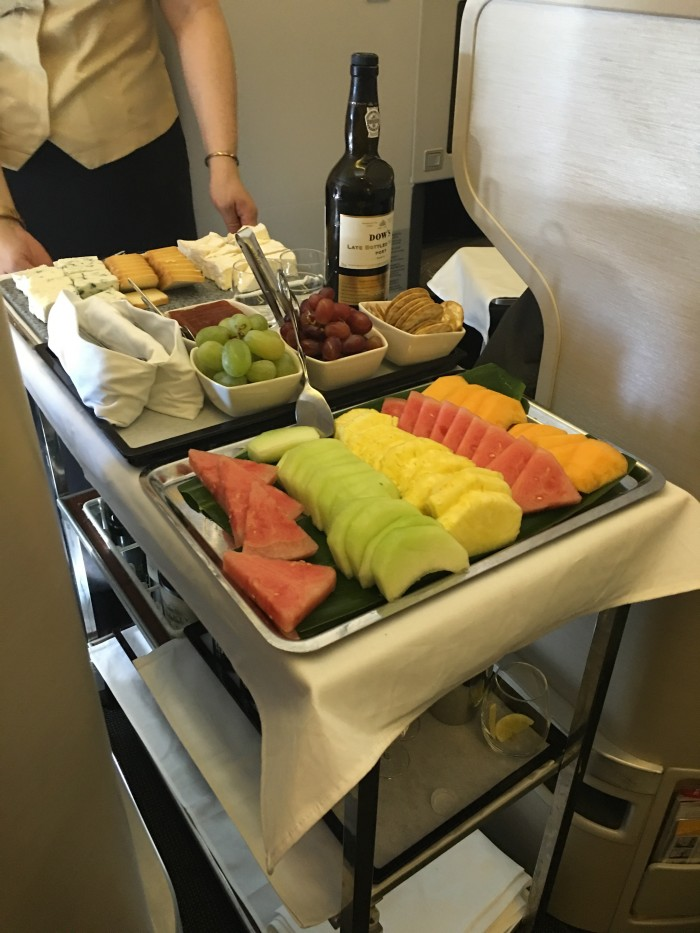 cathay-pacific-business-class-cheese-fruit-cart