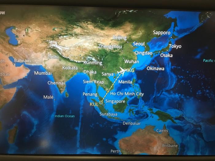 cathay pacific hong kong kuala lumpur 700x525 - Cathay Pacific Business Class Airbus A330 Hong Kong HKG to Kuala Lumpur KUL review