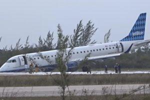 jetblue emergency landing bahamas 300x200 - JetBlue plane makes emergency landing with no nose landing gear in the Bahamas