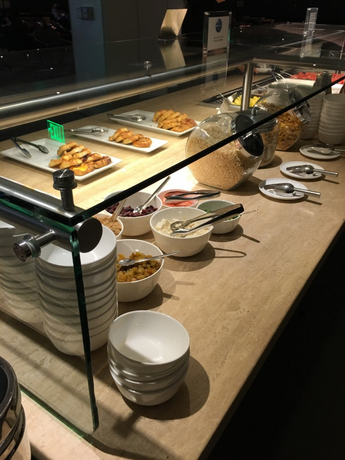 oneworld lounge lax buffet 700x933 - OneWorld Business Lounge Los Angeles LAX review