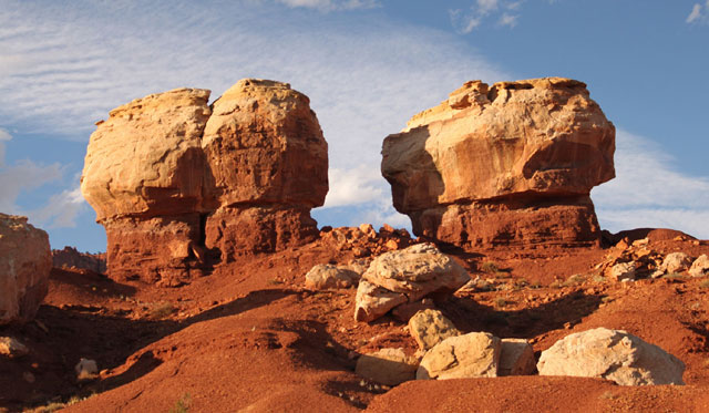 twin rocks - Outdoor adventures in Capitol Reef Country