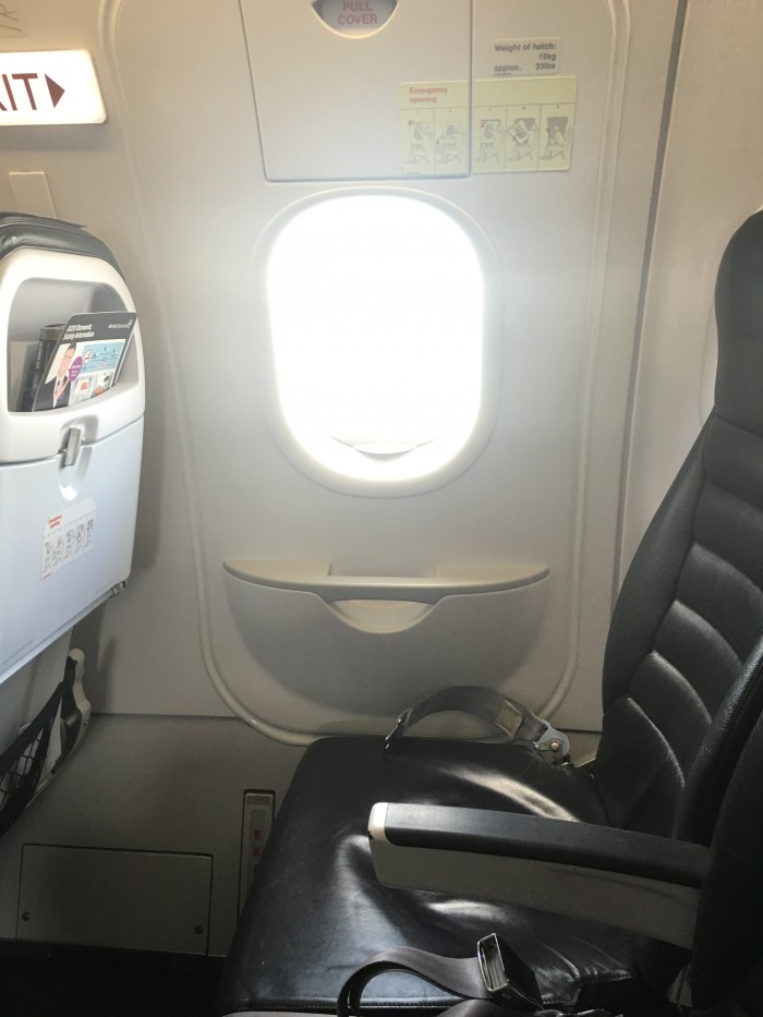 air new zealand airbus a320 exit row 700x933 - Air New Zealand Economy Class Airbus A320 Auckland AKL to Queenstown ZQN review