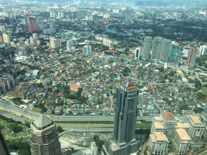 kuala lumpur from petronas towers 700x525 - A layover in Kuala Lumpur - Street markets & Petronas Towers
