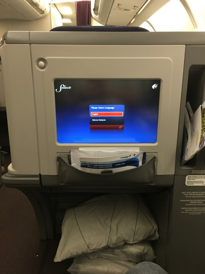 malaysia airlines business class airbus a330 300 video screen 700x933 - Malaysia Airlines Business Class Airbus A330-300 Kuala Lumpur KUL to Auckland AKL review