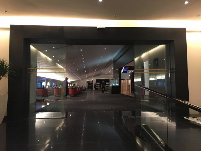 malaysia airlines golden lounge kuala lumpur satellite entrance 700x525 - Malaysia Airlines Golden Lounge Kuala Lumpur KUL satellite review