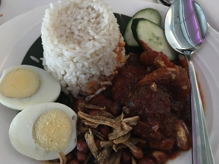 malaysia airlines nasi lemak 700x525 - Malaysia Airlines Business Class Airbus A330-300 Kuala Lumpur KUL to Auckland AKL review