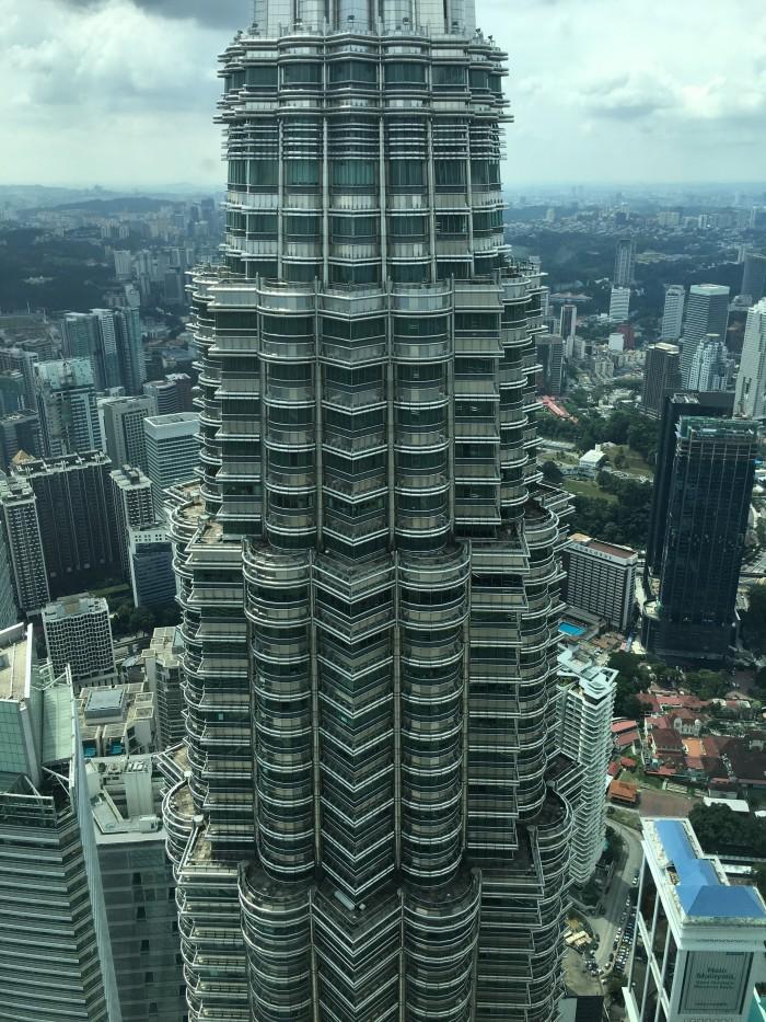 petronas tower across 700x933 - A layover in Kuala Lumpur - Street markets & Petronas Towers