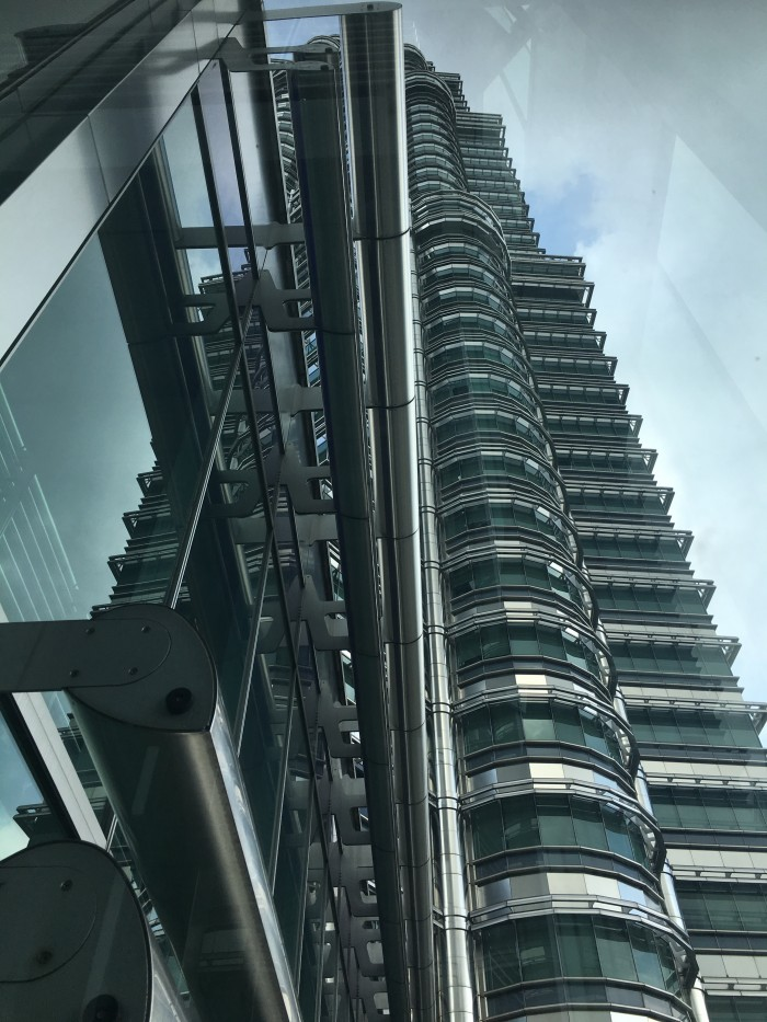 petronas towers from the skybridge 700x933 - A layover in Kuala Lumpur - Street markets & Petronas Towers