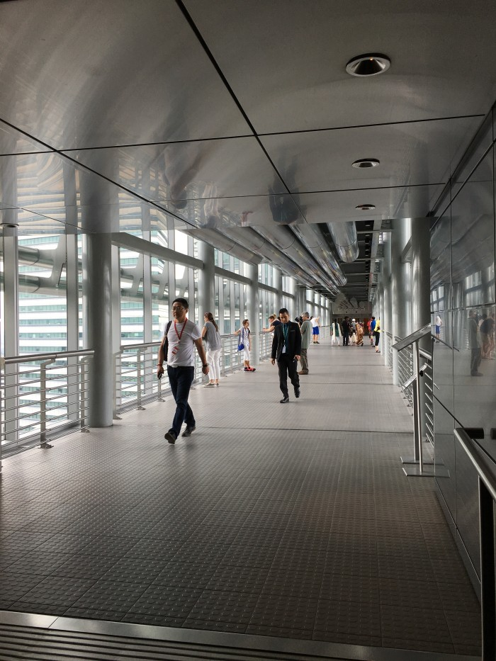 petronas towers skybridge 700x933 - A layover in Kuala Lumpur - Street markets & Petronas Towers