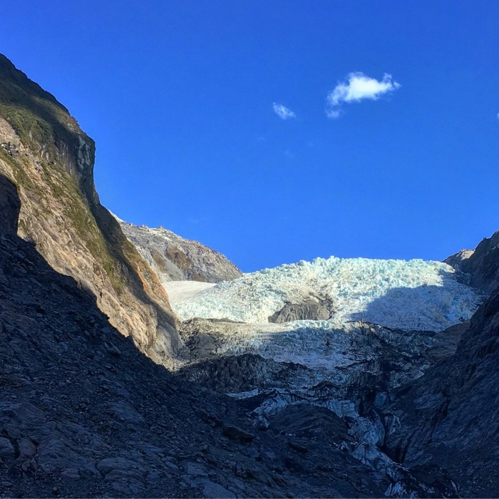 franz josef glacier sky 700x700 - Hiking to Franz Josef Glacier, New Zealand