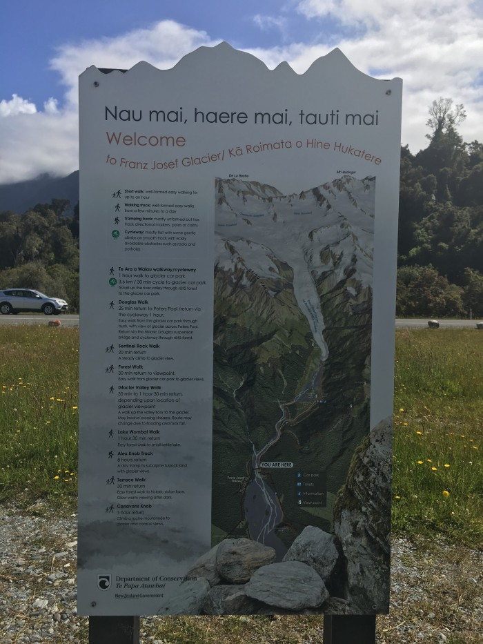 franz josef information 700x933 - Hiking to Franz Josef Glacier, New Zealand