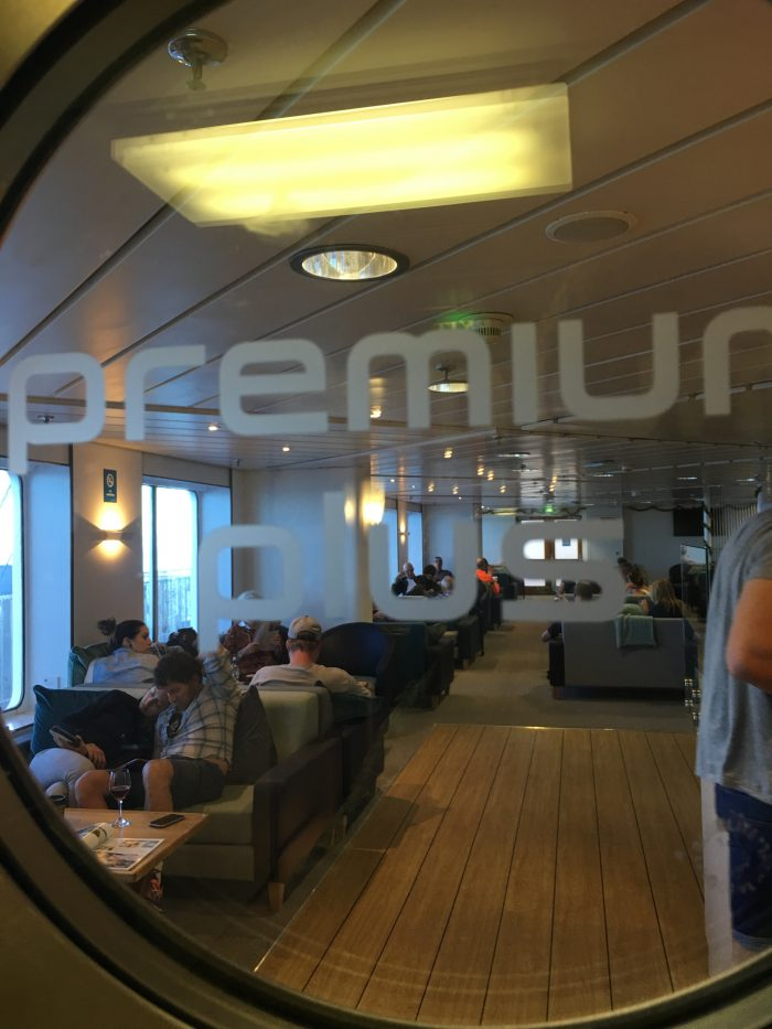 interislander ferry premium plus lounge 700x933 - Nelson to Wellington, New Zealand by bus and ferry via Picton