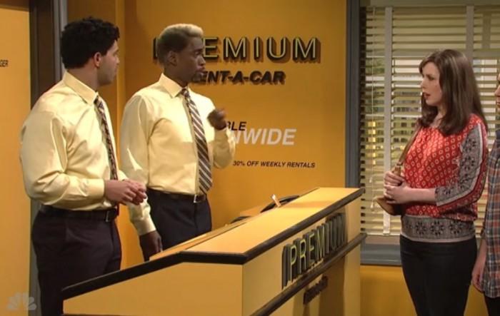 snl premium rent a car sketch 700x443 - Video: SNL - Premium Rent-A-Car sketch