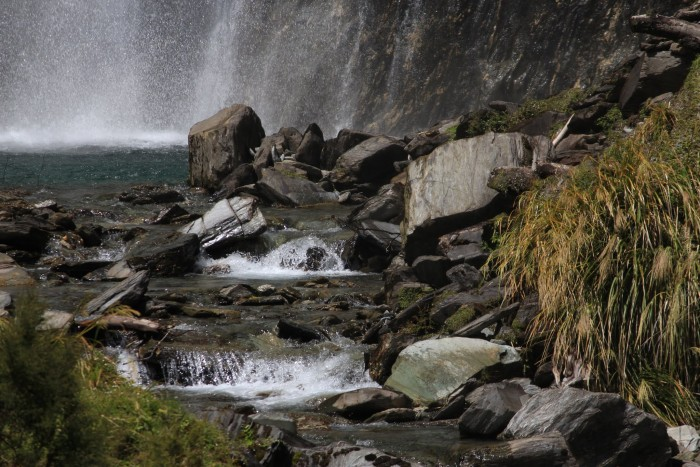 thunder creek falls new zealand 700x467 - Queenstown to Franz Josef, New Zealand by bus