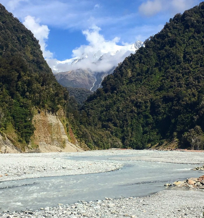 waiho river 700x745 - Hiking to Franz Josef Glacier, New Zealand