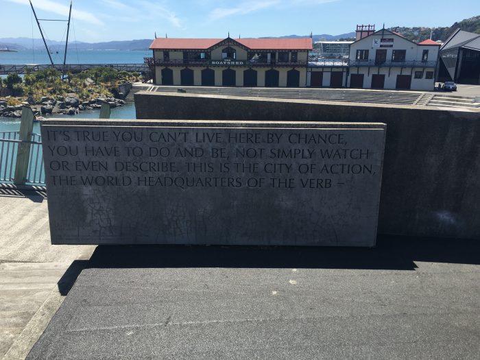 wellington bridge writing 700x525 - Exploring the museums & parks of Wellington, New Zealand
