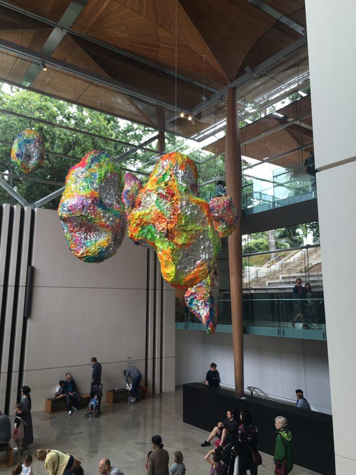 auckland art gallery atrium 700x933 - A rainy day at the Auckland Art Gallery & New Zealand Maritime Museum