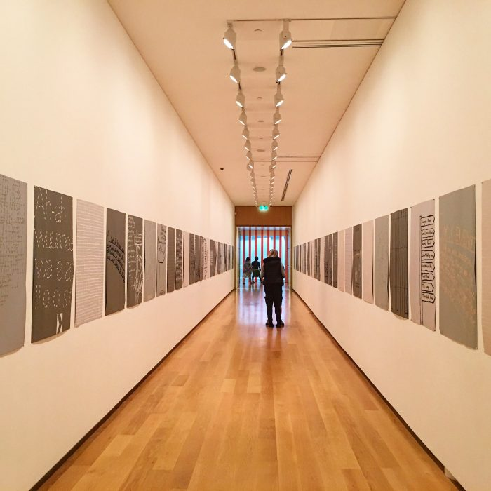 auckland art gallery hallway 700x700 - A rainy day at the Auckland Art Gallery & New Zealand Maritime Museum