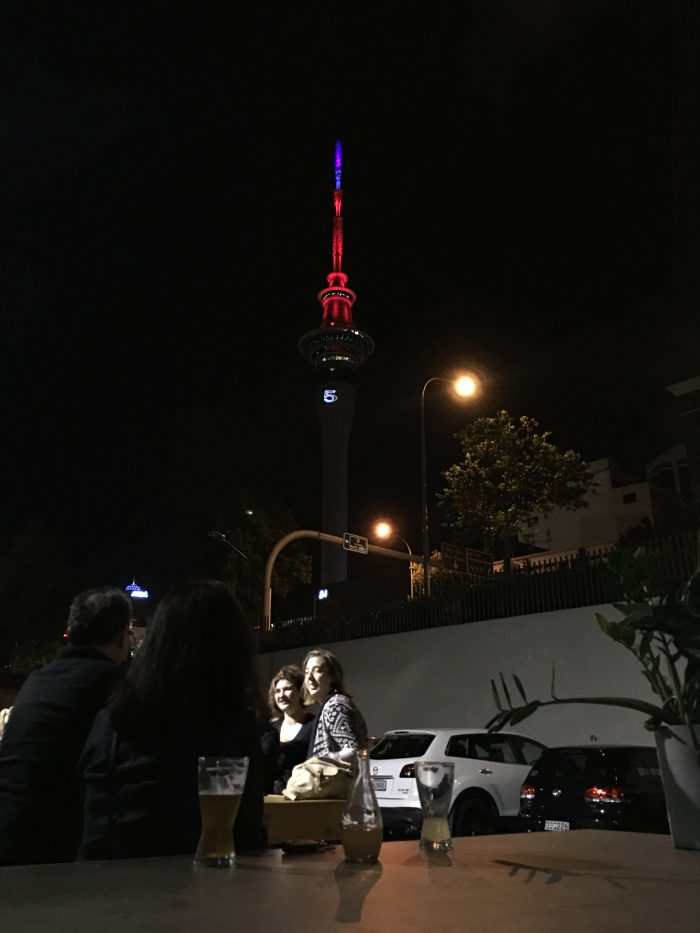 brothers beer skytower 700x933 - New Year's Eve in Auckland, New Zealand