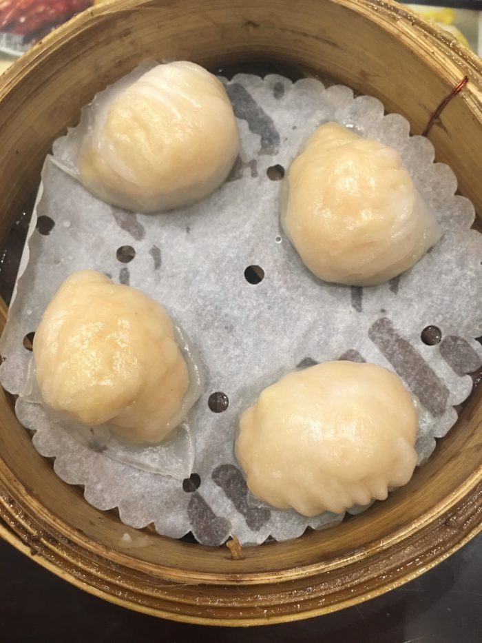 dim sum square shrimp crystal dumplings 700x933 - More dim sum in Hong Kong - Din Tai Fung & Dim Sum Square