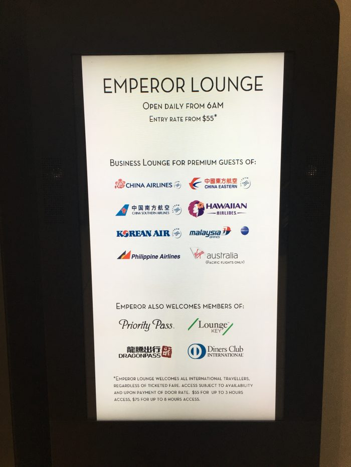emperor lounge auckland airlines 700x933 - Emperor Lounge Auckland AKL review