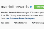 free marriott points instagram 150x100 - Get 500 free Marriott Rewards points for following them on Instagram