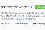free marriott points instagram 150x100 - Get 500 free Marriott Rewards points for following them on Instagram