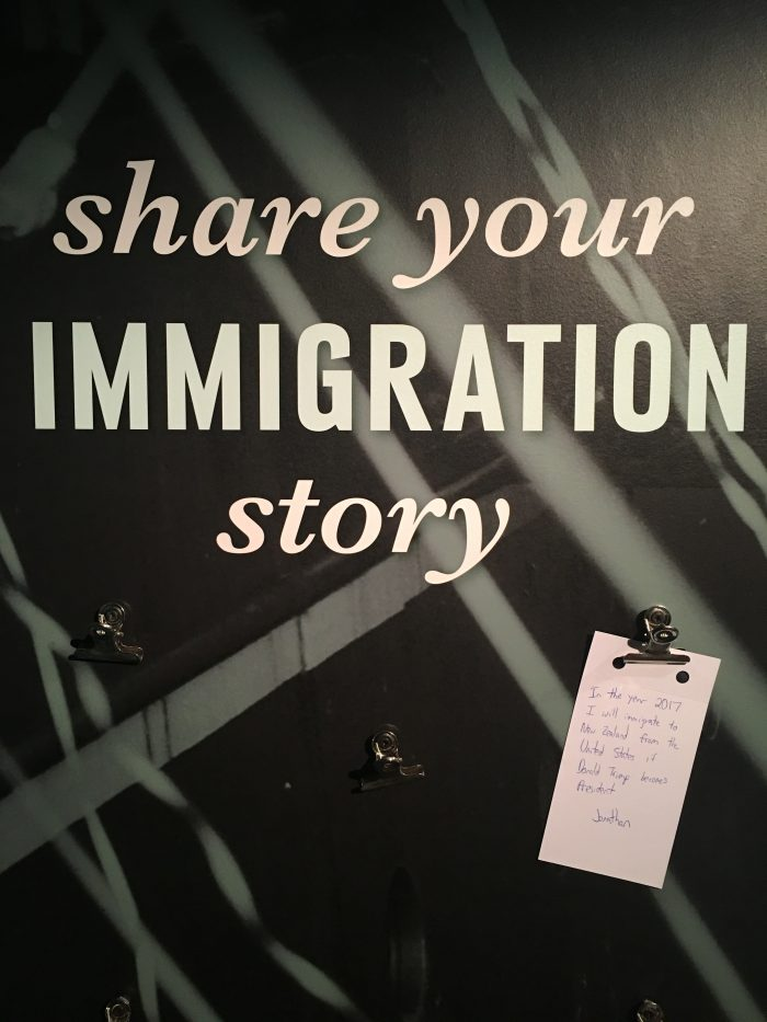 immigration story trump 700x933 - Rainy day activities in Auckland - Art Gallery & New Zealand Maritime Museum