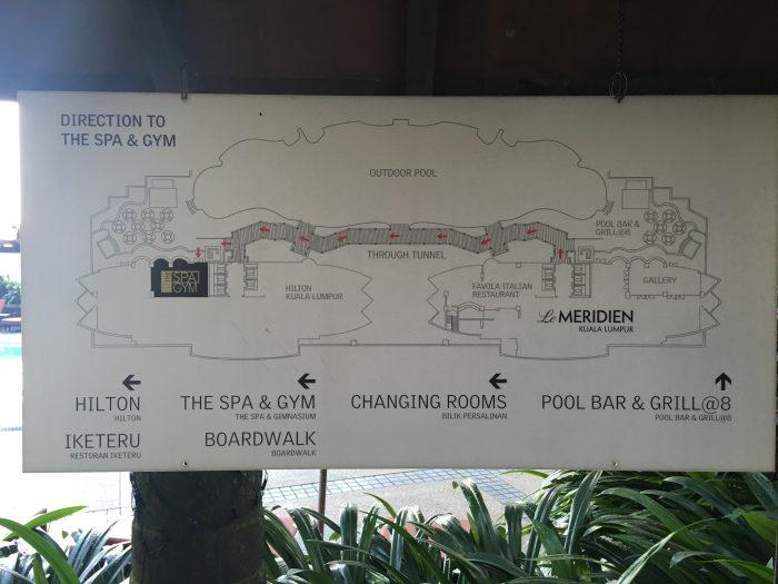 le meridien kuala lumpur hilton pool map 700x525 - Le Meridien Kuala Lumpur review