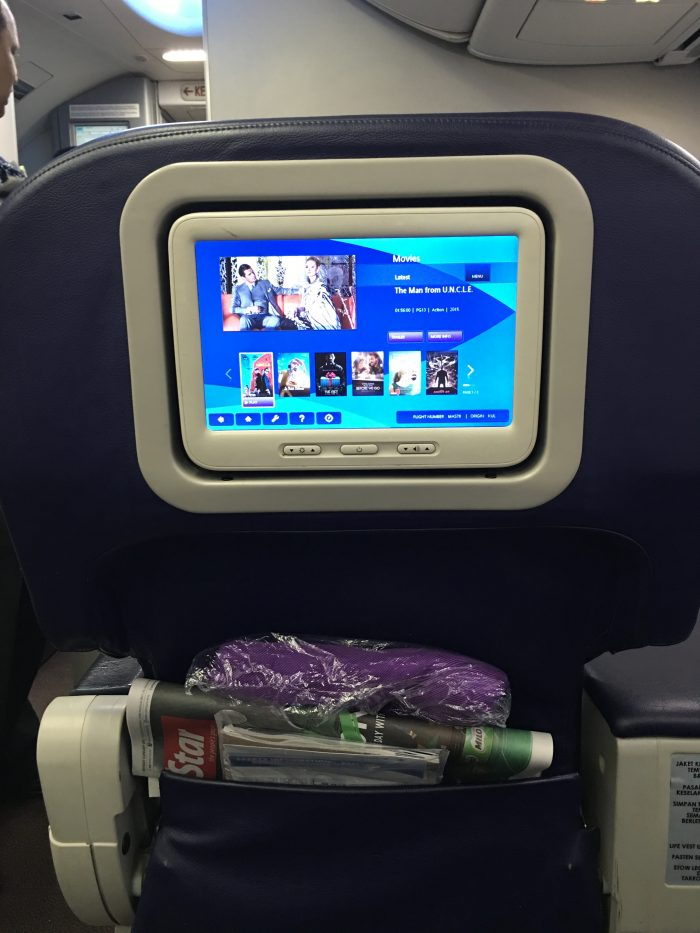 malaysia airlines business class boeing 737 inflight entertainment 700x933 - Malaysia Airlines Business Class Boeing 737-800 Kuala Lumpur KUL to Hong Kong HKG review