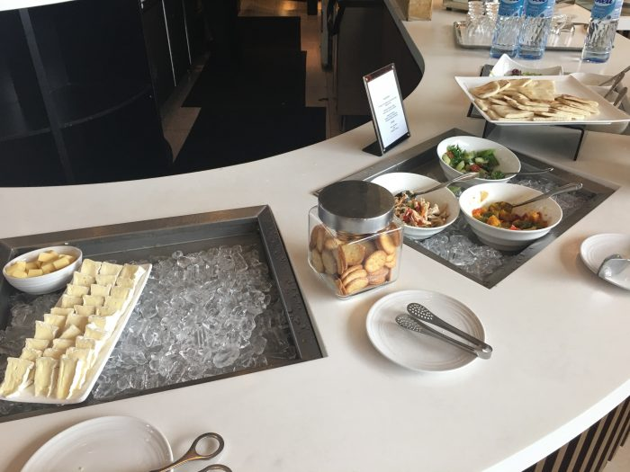 malaysia airlines golden regional lounge kuala lumpur cold snacks cheese 700x525 - Malaysia Airlines Golden Regional Lounge Kuala Lumpur KUL review