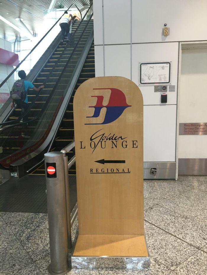 malaysia airlines golden regional lounge kuala lumpur sign 700x933 - Malaysia Airlines Golden Regional Lounge Kuala Lumpur KUL review