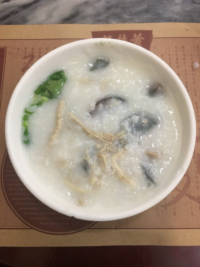 pork preserved egg congee wong chi kei 700x933 - A visit to Victoria Peak & more great food in Hong Kong