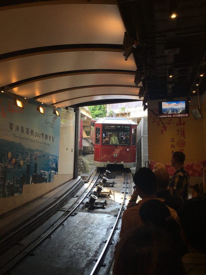 victoria peak tram 700x933 - A visit to Victoria Peak & more great food in Hong Kong