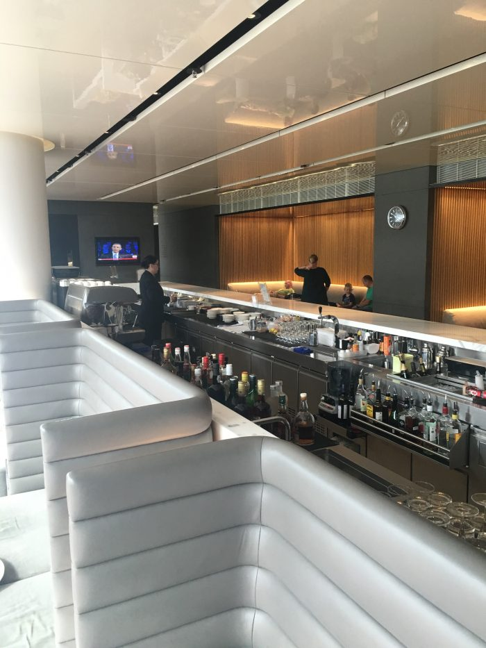 cathay pacific the cabin bar 700x933 - Cathay Pacific The Cabin Business Class Lounge Hong Kong review