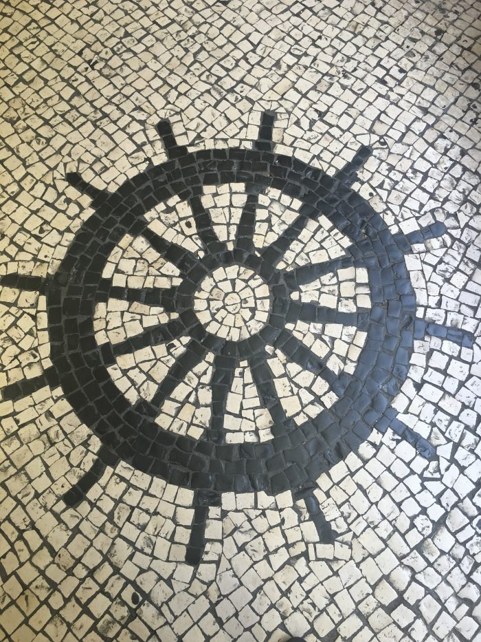 macau tile sidewalk wheel 700x933 - A day trip to Macau from Hong Kong