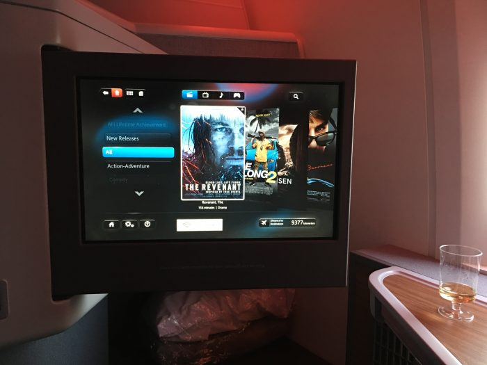 american airlines business class boeing 777 300er los angeles lax to london heathrow lhr inflight entertainment 700x525 - American Airlines Business Class Boeing 777-300ER Los Angeles LAX to London Heathrow LHR review