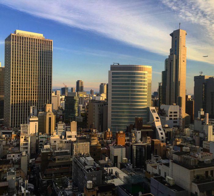 crowne plaza ana osaka view 700x641 - A layover in Osaka - Ramen, sushi, & exploring the city