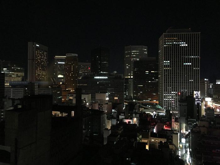 crowne plaza ana osaka view night 700x525 - A layover in Osaka - Ramen, sushi, & exploring the city