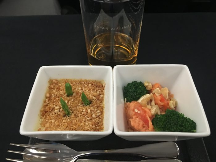 JAL-Business-Class-Boeing-787-Osaka-to-Los-Angeles-amuse-bouche