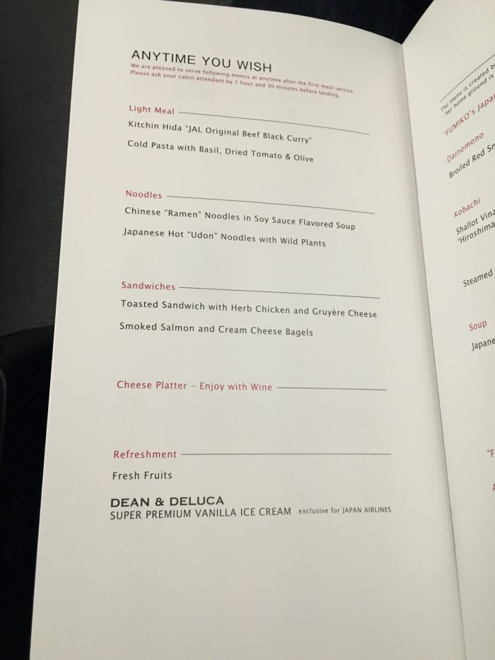 JAL-Business-Class-Boeing-787-Osaka-to-Los-Angeles-anytime-menu