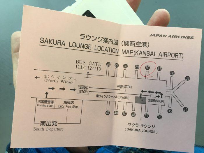 jal sakura lounge osaka kix map 700x525 - JAL Sakura Lounge Osaka KIX review
