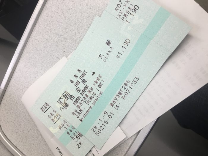 kansai to osaka train ticket 700x525 - A layover in Osaka - Ramen, sushi, & exploring the city