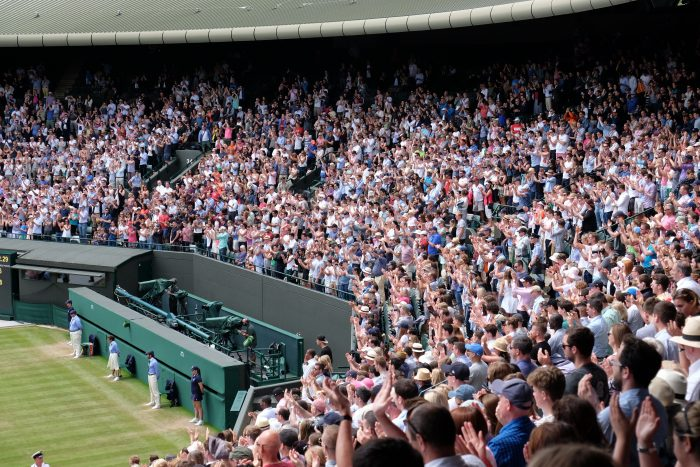 wimbledon court no 1 crowd 700x467 - A visit to Wimbledon on People's Sunday 2016