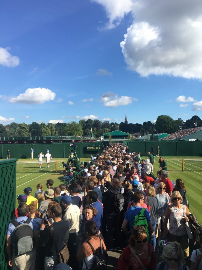 wimbledon grounds crowds 700x933 - A visit to Wimbledon on People's Sunday 2016